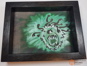 Beholder Green Handmade Oak Wood and Leather Dice Tray