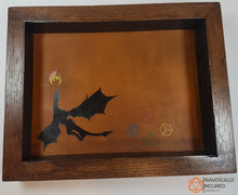 Laden Sie das Bild in den Galerie-Viewer, Flying Dragon Oak Handmade Wood and Leather Dice Tray