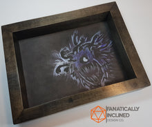"Load image into Gallery viewer, Custom 9"" by 7"" Handmade Wood Oak Leather Dice Tray"