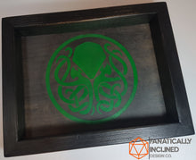"Laden Sie das Bild in den Galerie-Viewer, Custom 7"" by 7"" Small Handmade Wood Oak Leather Dice Tray"