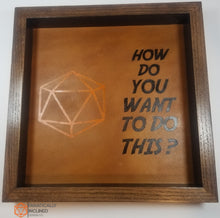 Load image into Gallery viewer, Large Party Size Handmade Oak Wood and Leather Dice Tray