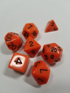 Orange and Black Dice DND Dungeons and Dragons D20 Critical Role Polyhedral Pathfinder RPG Tabletop Gaming TTRPG