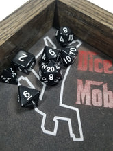 Load image into Gallery viewer, Black and White 7pc Dice Set