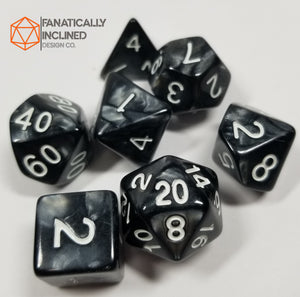 Black Ore Pearlescent 7pc Dice Set
