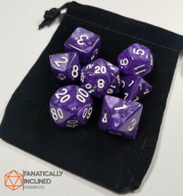 Laden Sie das Bild in den Galerie-Viewer, Royal Purple Pearlescent 7pc Dice Set