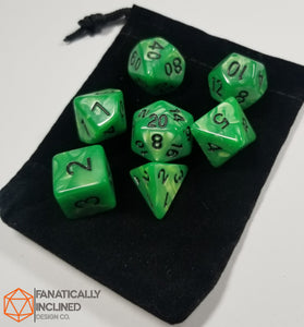 Jade Green Pearlescent 7pc Dice Set