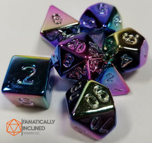 Laden Sie das Bild in den Galerie-Viewer, Fools's Rainbow 7pc Resin Dice Set