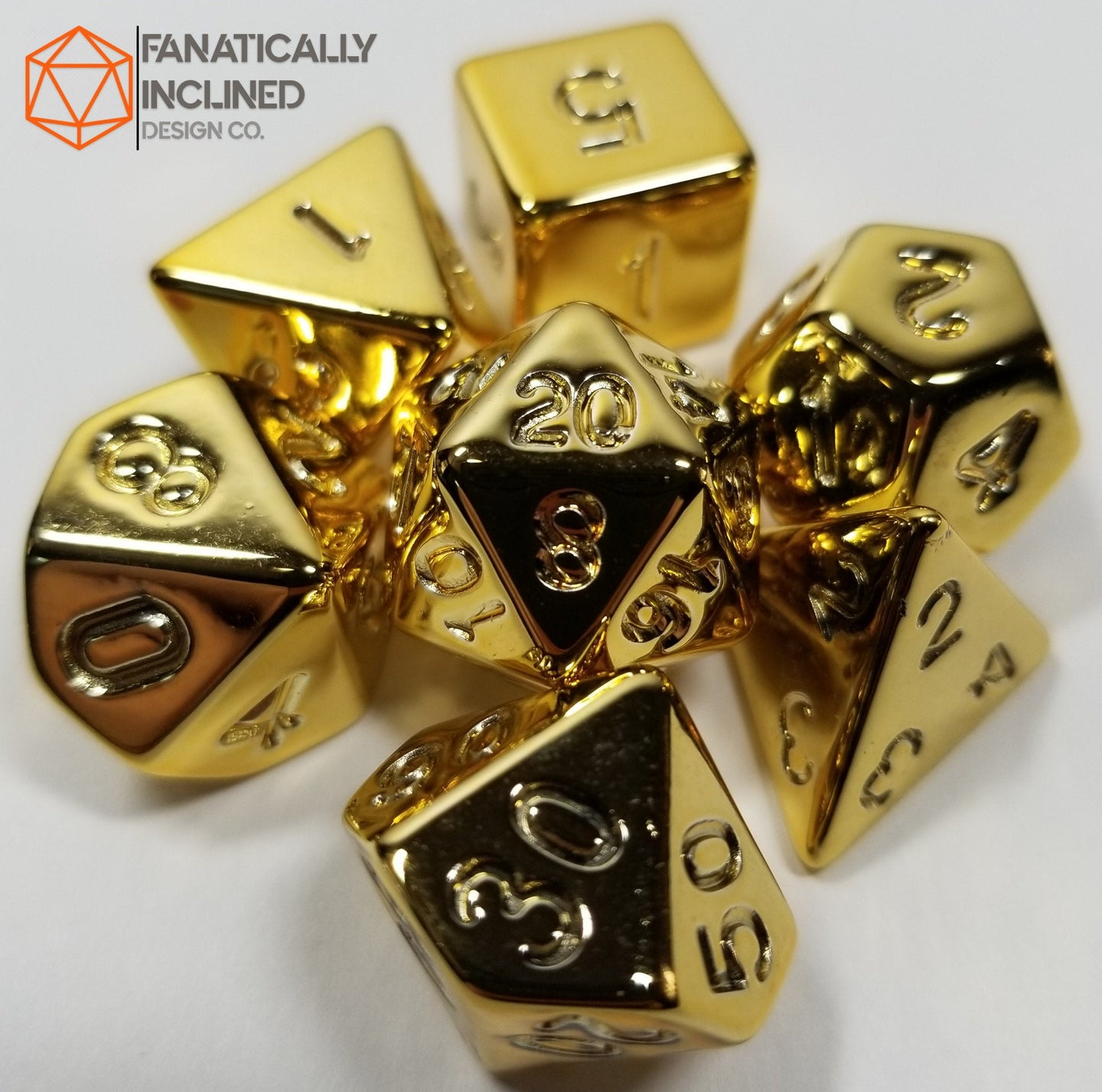 Fools Gold 7pc Resin Dice Set