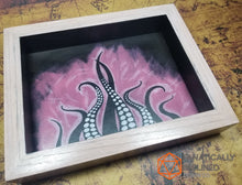 Load image into Gallery viewer, Pink Tentacles Handmade Oak Wood and Leather Dice Tray