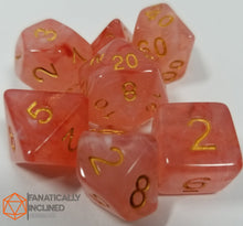 Load image into Gallery viewer, Red Gelatinous Cube Dice Set