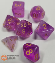 Load image into Gallery viewer, Purple Gelatinous Cube 7pc Dice Set