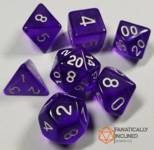 Load image into Gallery viewer, Purple Prismatic Orb 7pc Dice Set