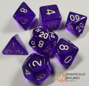 Purple Prismatic Orb 7pc Dice Set