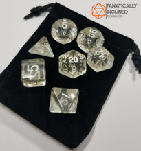 Laden Sie das Bild in den Galerie-Viewer, Diamond Clear Prismatic Orb 7pc Dice Set