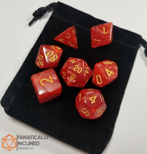 Load image into Gallery viewer, Red Pearlescent 7pc Dice Set