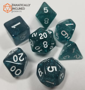 Midnight Blue Glitter Dice Set