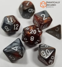 Load image into Gallery viewer, Copper and Grey Pearl 7pc Dice Set