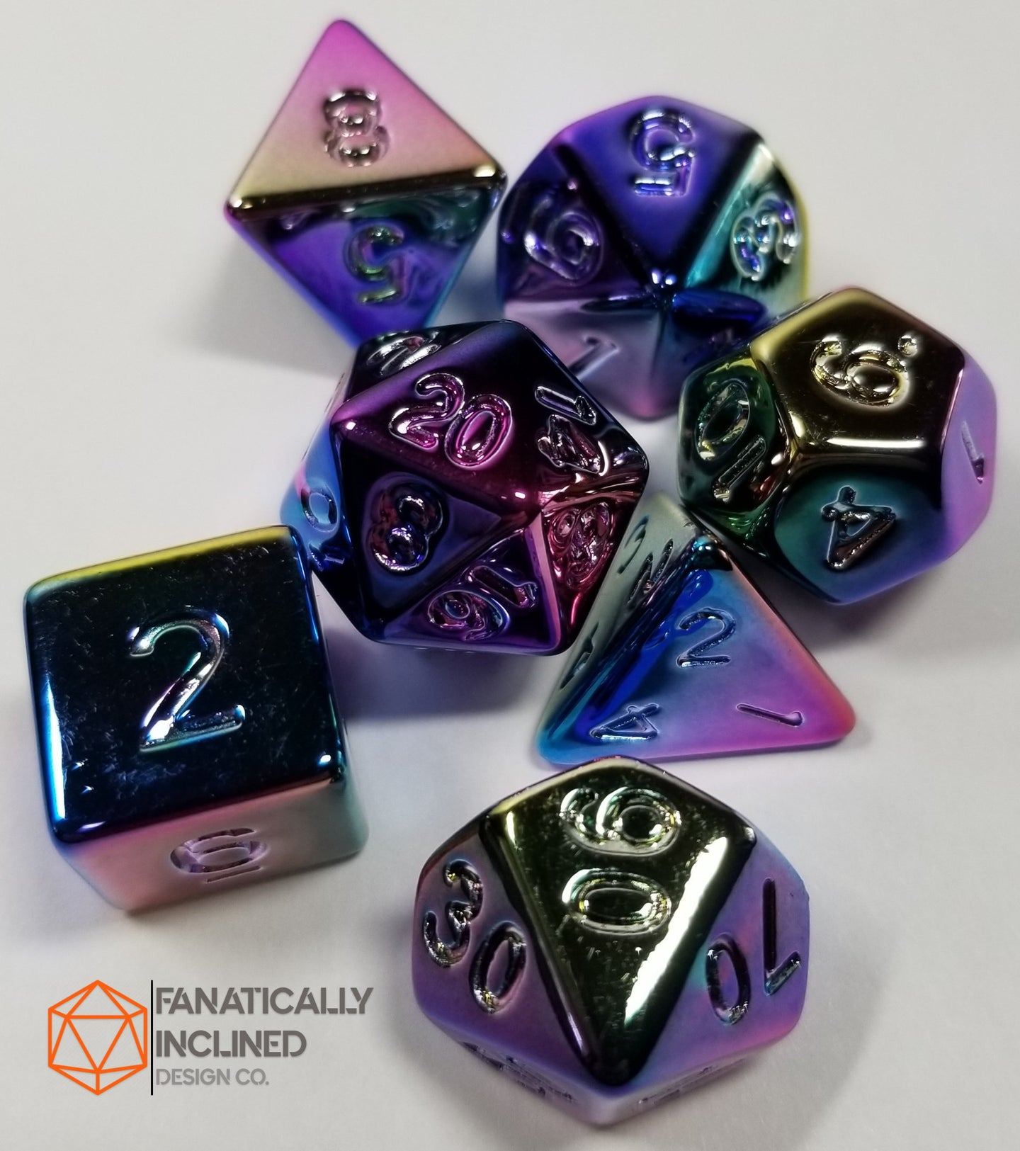 Fools's Rainbow 7pc Resin Dice Set