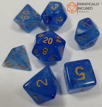 Load image into Gallery viewer, Blue Gelatinous Cube 7pc Dice Set