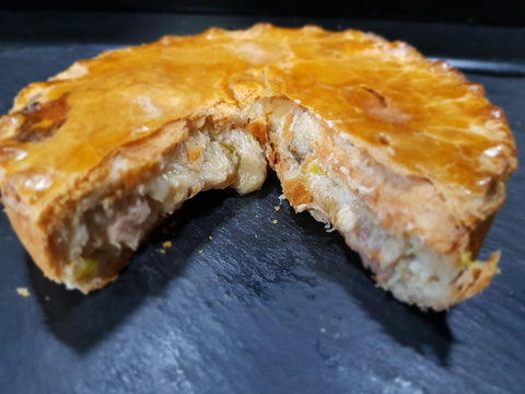 Deep Chicken Leek and Ham Pie 6""