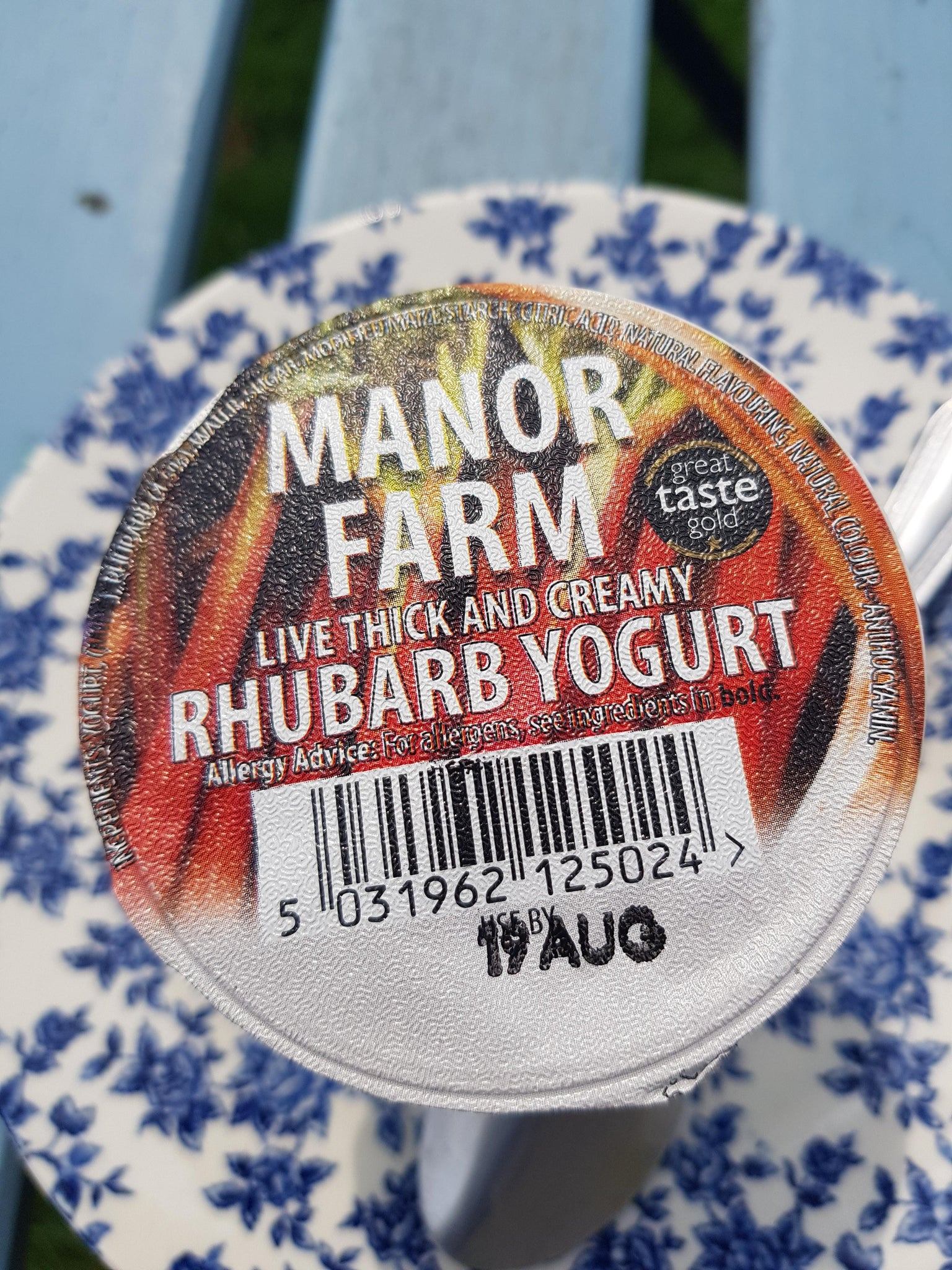 Manor Farm Rhubarb Yoghurt 125g
