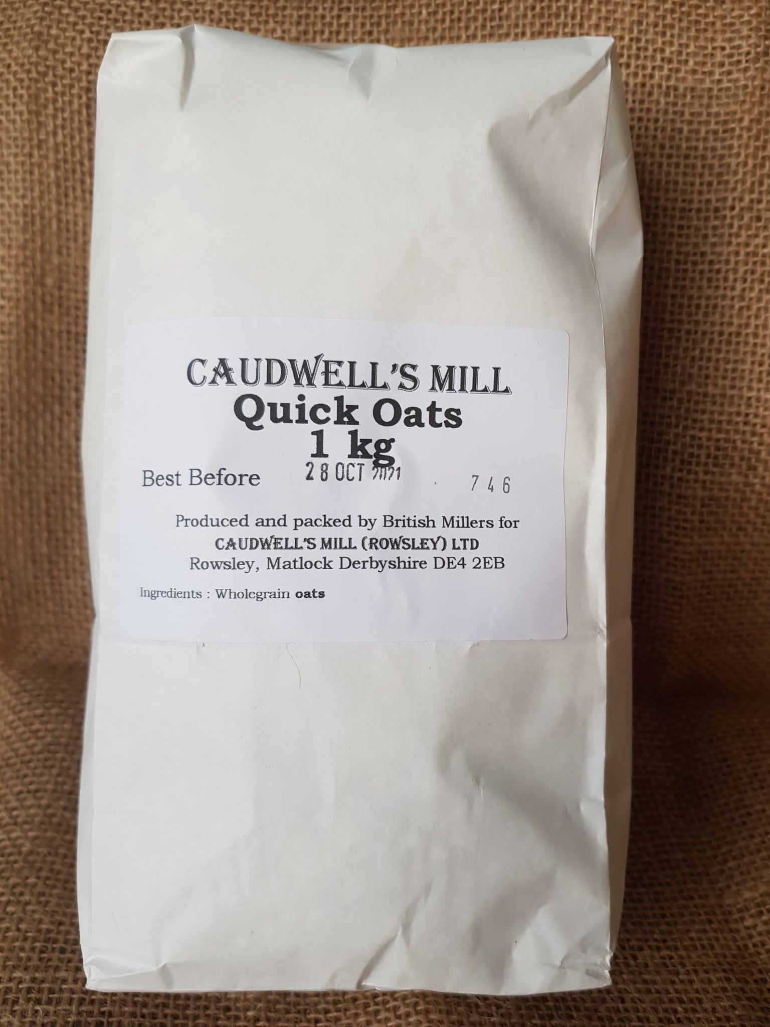 Caudwell Mill Quick Oats 1kg