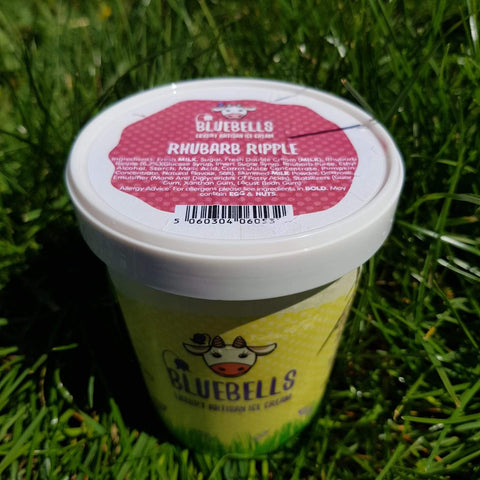 500ml Ice Cream - Rhubarb Ripple