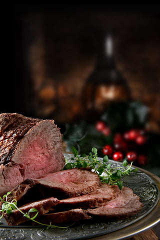 Beef Topside Joint. Rolled and basted. MEDIUM. Serves 6-8 people