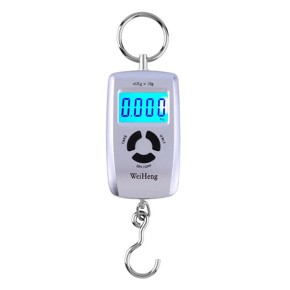 45kg/10g Luggage Hanging Fishing Hook LCD Digital Electronic Scale Pocket Size