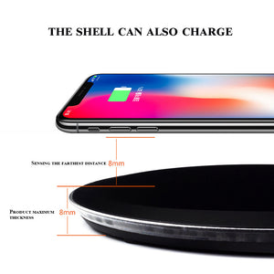 Qi Wireless Fast Charger Charging Pad for Samsung Galaxy Note 8 S8 iPhone X 8 Google