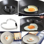 Heart Pancake Muffin Fried Egg Ring Kitchen Tool Stainless Steel Mold Shaper