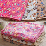 Pet Mat Paw Print Cat Dog Puppy Fleece Winter Warm Soft Blanket Bed Cushion