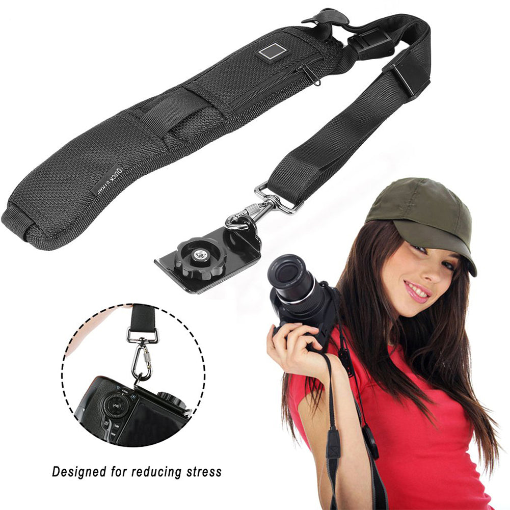 Quick Rapid Belt Neck Strap Digital Single Shoulder Sling for DSLR SLR Camera