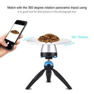 Portable 360 Degree Level Rotary Camera Round Tray Holder ABS Photograph Tool