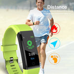 Smart Wrist Band Fitness Heart Rate Monitor Blood Pressure Pedometer Health Running Sports Smart Watch Men Women For IOS Android
