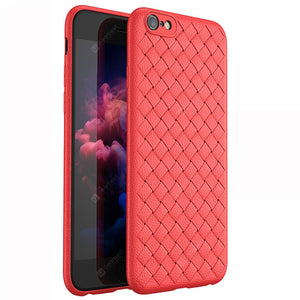 Luxury Grid Weaving Super Soft Cases for iPhone 6 6S Cover Silicon Accessories