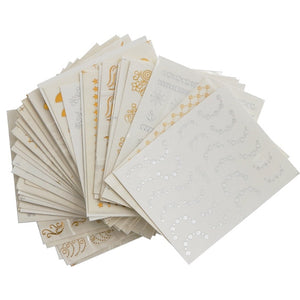 DIY Decoration Nail Sticker Gold and Silver Embossed 30PCS