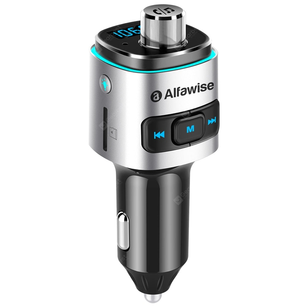 Bluetooth 4.2 FM Transmitter Car Charger