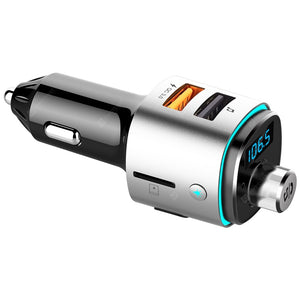 Alfawise QC3.0 Bluetooth 4.2 FM Transmitter Car Charger Dual USB Port
