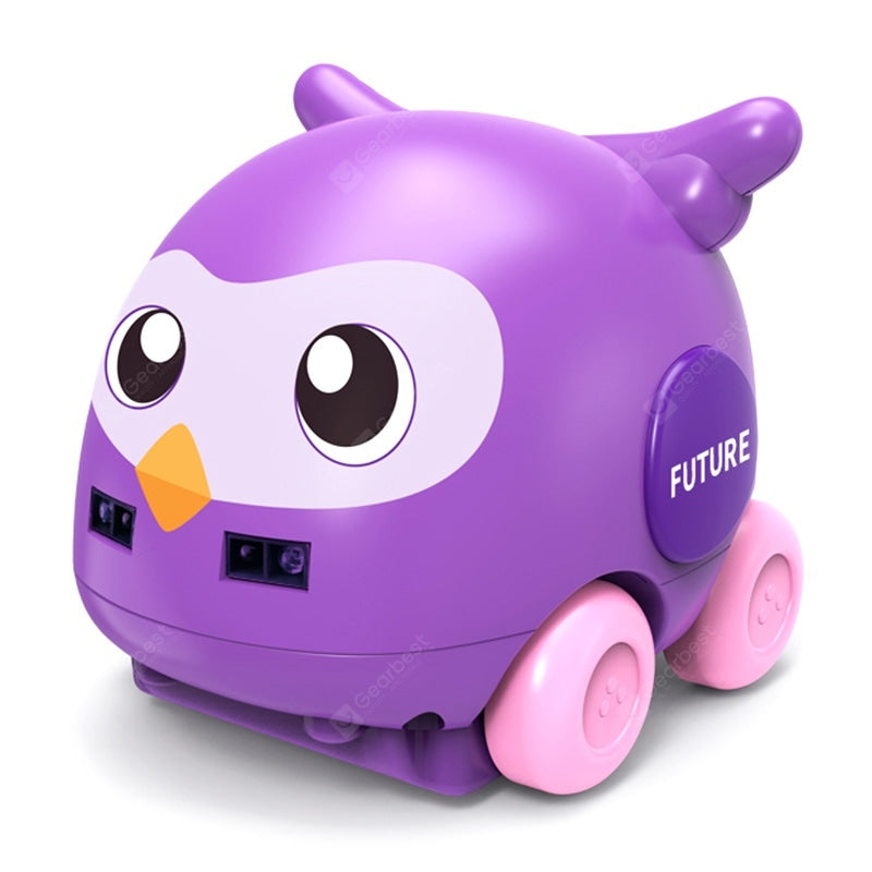 3302 1:32 Cartoon Owl Track Car Two-way Induction Toy