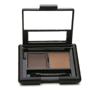 e.l.f. Cosmetics Studio Eyebrow Kit Brow Powder and Wax Duo for More Defined Eyebrows, Brush Included, Medium Tint