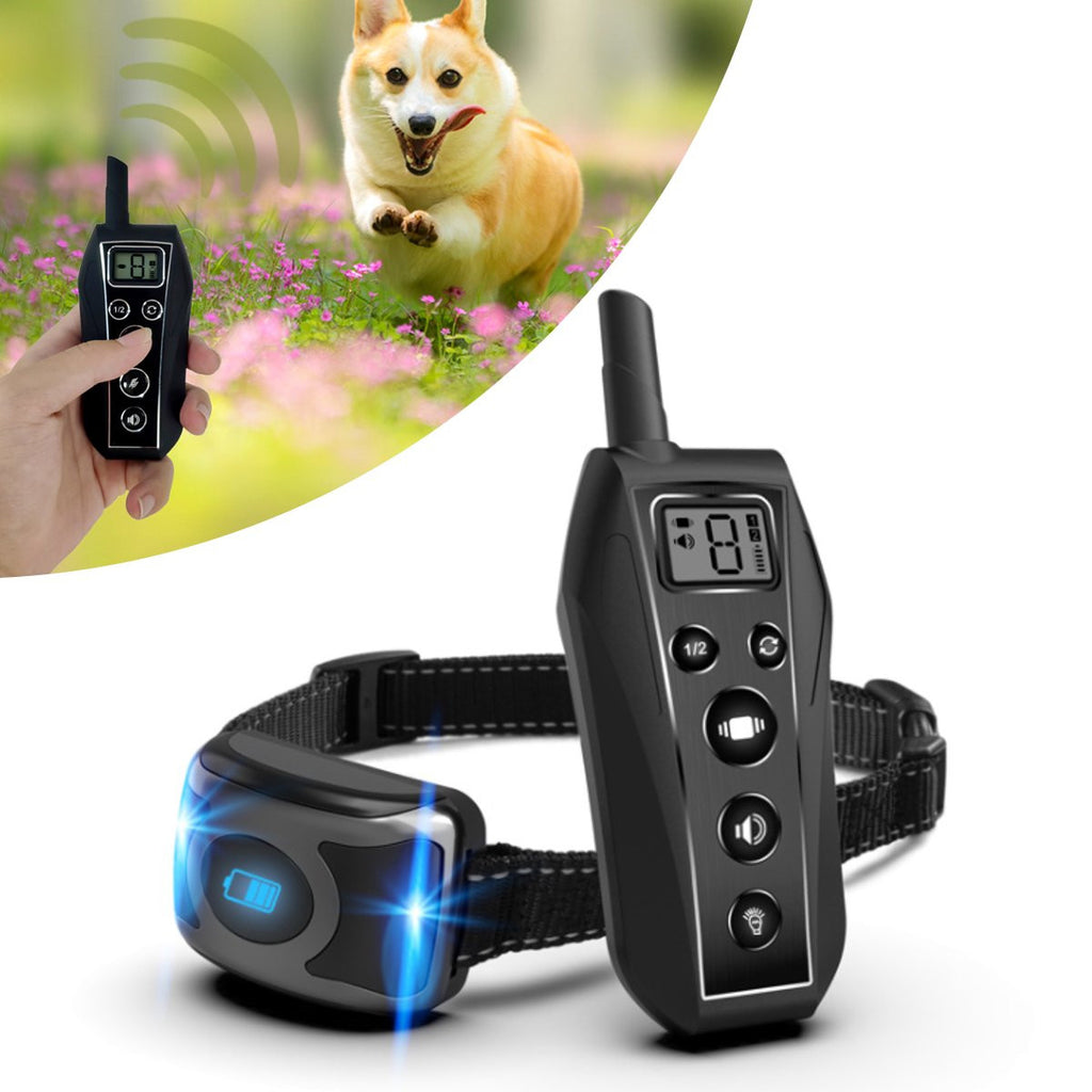 600m Remote Dog Training Collar Pet Trainer Sound Vibration