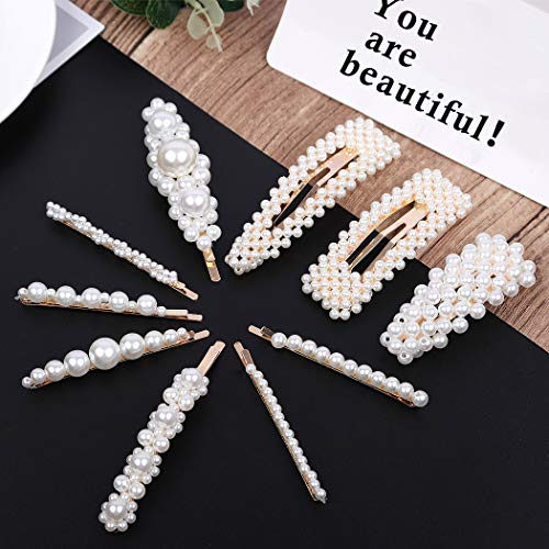 Pearls Hair Clips for Women Girls