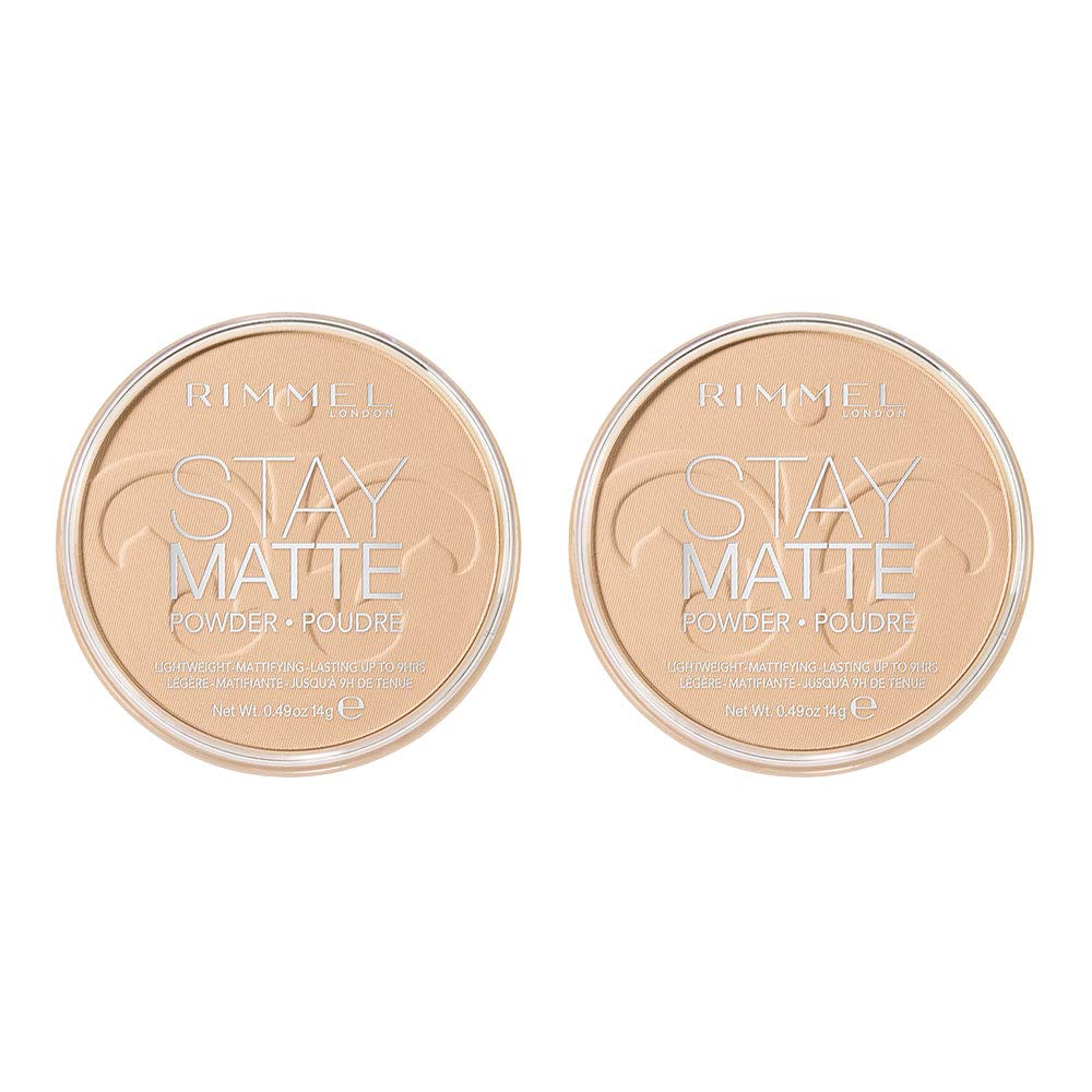 Rimmel London Stay Matte Long Lasting Pressed Powder, Transparent [001] 0.49 Ounce (Pack of 1)