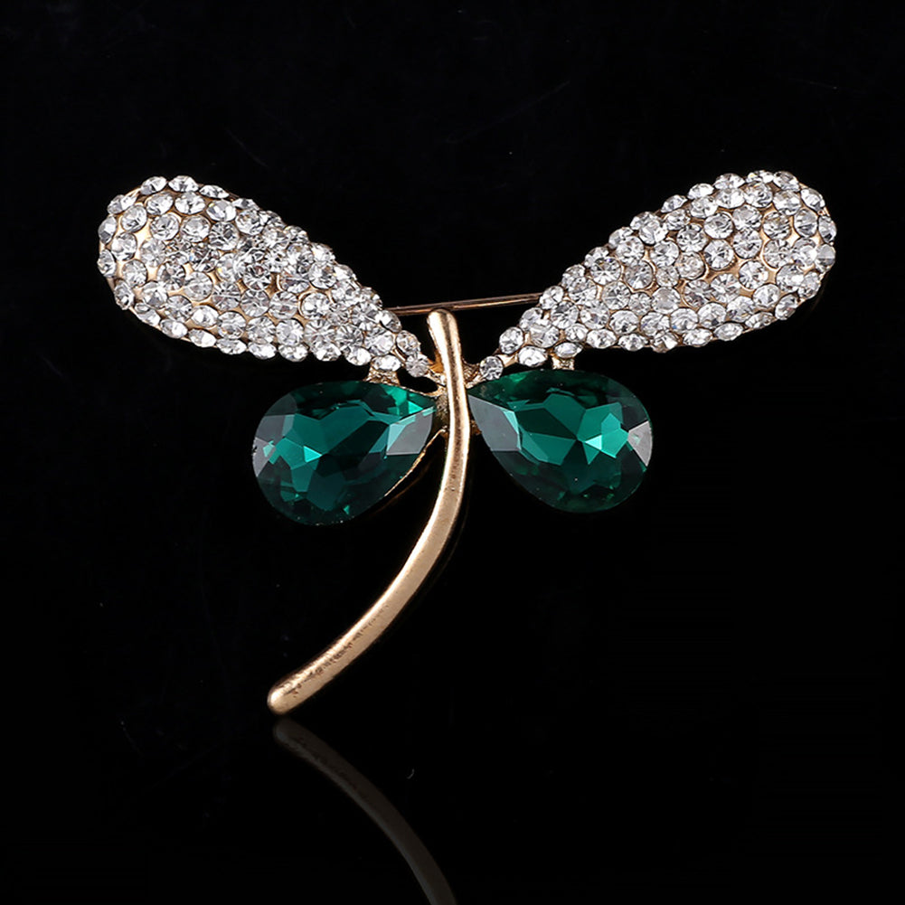 Lovely Women Dragonfly Rhinestone Brooch Pin Breastpin Jewelry Scarf Accessory