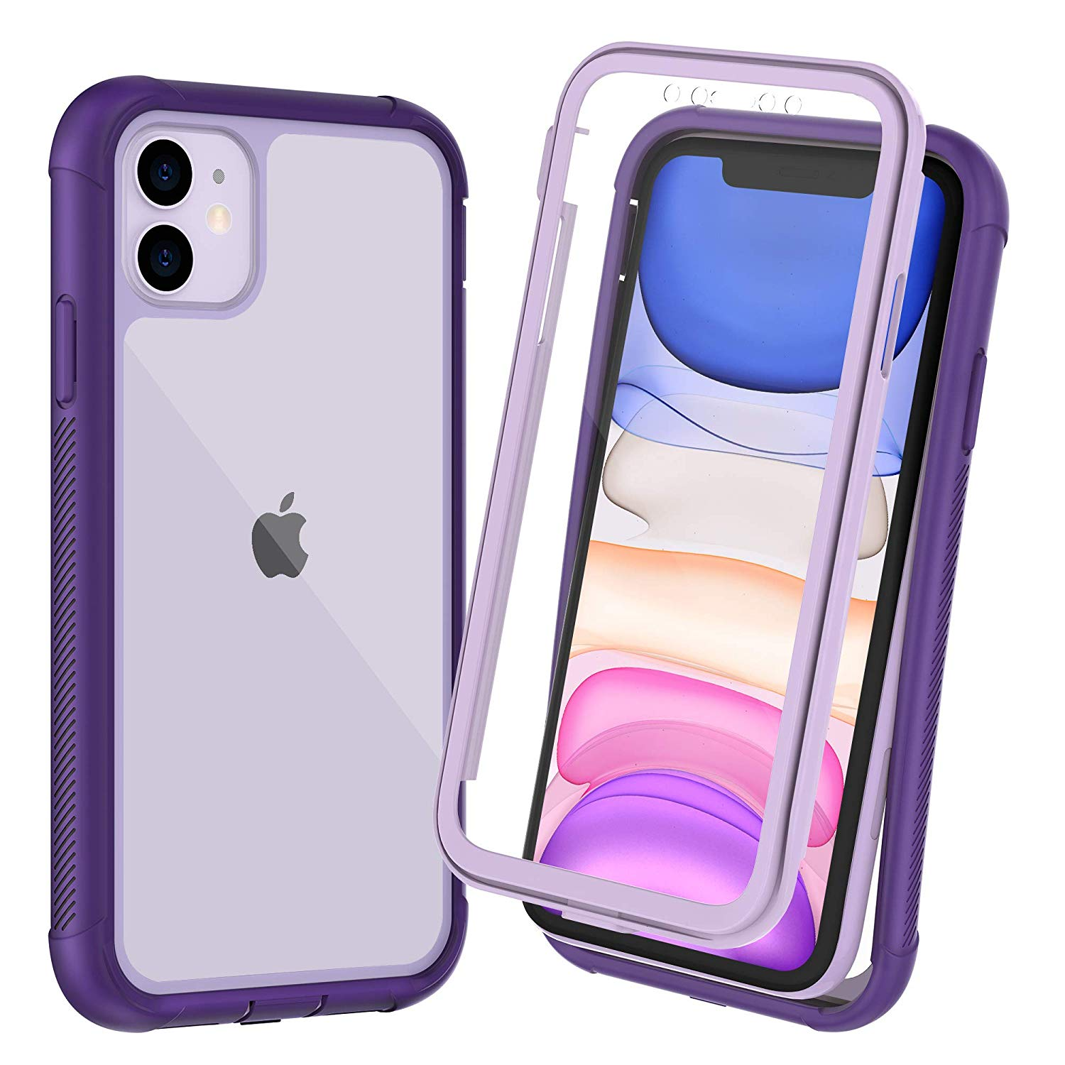 OTBBA iPhone 11 Case, Full-Body with Built-in Screen Protector Heavy Drop Protection Shock Absorption Cover Case Designed for iPhone 11 - 6.1 inch