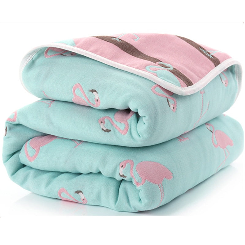 Baby Blankets Newborn Muslin Cotton 6 Layers