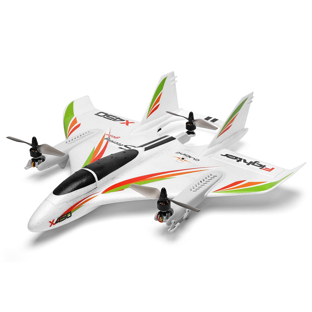 XK X450 VTOL 2.4G 6CH EPO 450mm Wingspan 3D/6G Mode Switchable Aerobatics RC Airplane RTF(Product is in Stock)