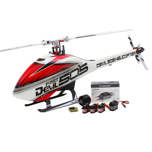 ALZRC Devil 505 FAST RC Helicopter Super Combo With Hobbywing 120A V4 Brushless ESC