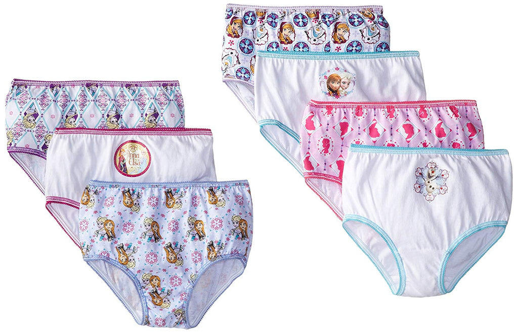 Disney Little Girls' Frozen 7-Pack Panty